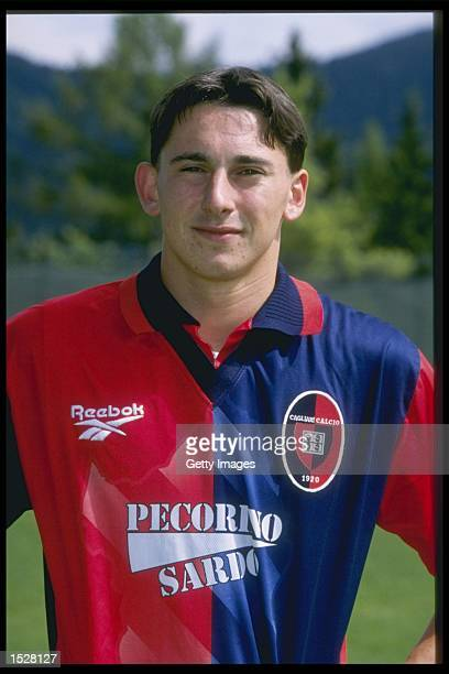 A portrait of Alan Carlet of Cagliari football club Mandatory Credit Allsport UK