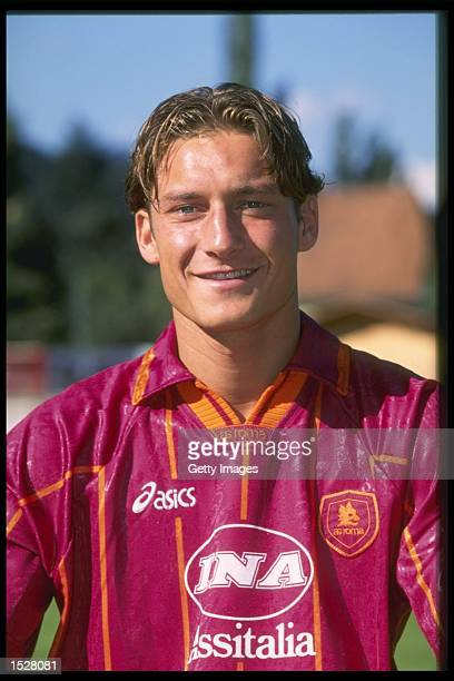 A portrait of Francesco Totti of Roma football club Mandatory Credit Allsport UK