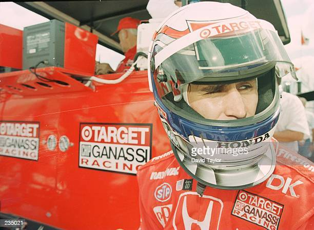 Driver Alessandro Zanardi of the Target Ganassi Team during practice for the Marlboro 500 at the Michigan International Speedway in Brooklyn Michigan...