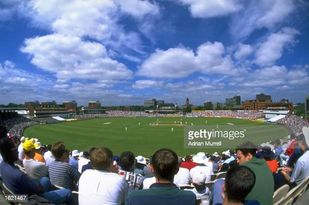 A general view of the third test match between England and Australia at Old Trafford Cricket Ground in Manchester England Australia won the match by...