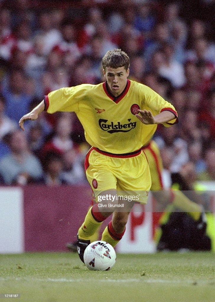 Michael Owen of Liverpool in action during the Preseason Friendly match against Bristol City played in Bristol England Mandatory Credit Clive...