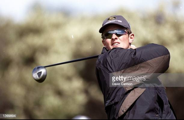 Amateur golfer Justin Rose of England in action during the British Open at Royal Birkdale Golf Club in Lancashire England Rose won the silver medal...