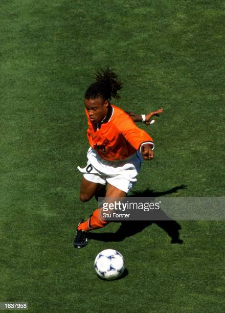 Edgar Davids of Holland on the ball during the World Cup quarterfinal against Argentina at the Stade Velodrome in Marseilles Holland won the match 21...