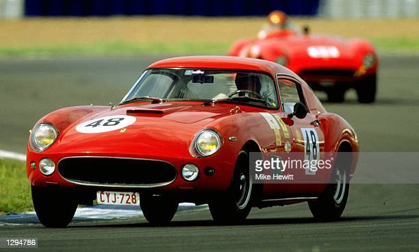 Edmond Pery in action in his Ferrari 250GT during the Shell Ferrari Historical Challenge at the Coys Festival at Silverstone in Northamptonshire...
