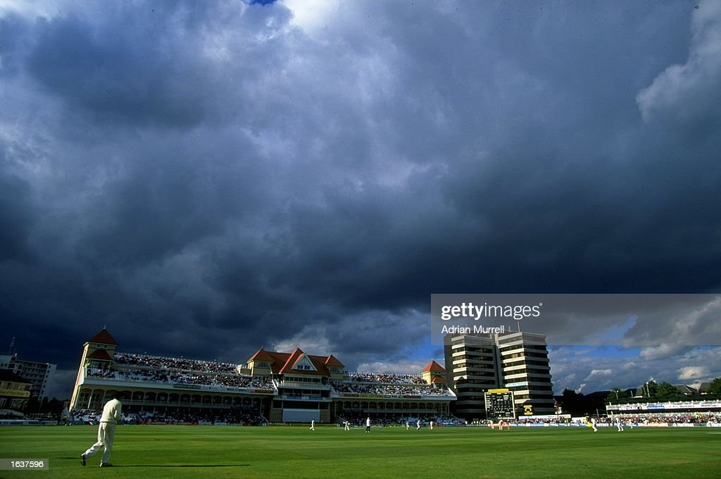 General view of play during the Fourth Test match between England and South Africa at Trent Bridge in Nottingham England England won the match by...