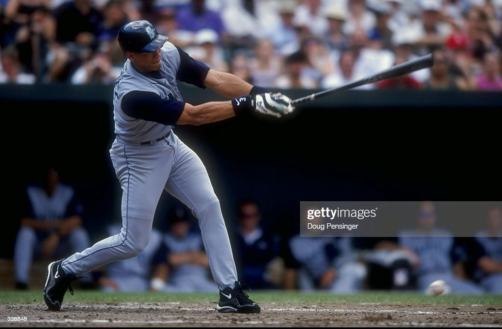 Infielder Alex Rodriguez of the Seattle Mariners in action during a game against the Baltimore Orioles at the Camden Yards in Baltimore Maryland The...