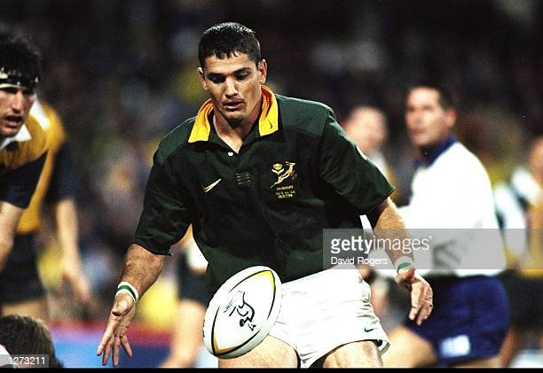 Joost van der Westhuizen of South Africa in action during the TriNations match against Australia at the Subiaco Oval in Perth Australia South Africa...
