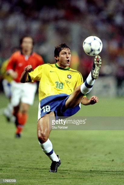 Leonardo of Brazil in full control during the World Cup semifinal against Holland at the Stade Velodrome in Marseille France Brazil won on penalties...