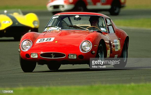 Paul Pappalardo in action in his Ferrari 250 GTO during the Shell Ferrari Historical Challenge at the Coys Festival at Silverstone in...