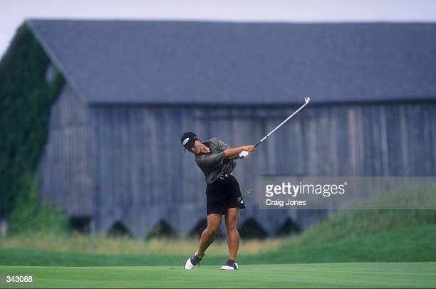 Se Ri Pak of South Korea in action during the Women''s U S Open at the Blackwol Run Resort in Kohler Wisconsin Mandatory Credit Craig Jones /Allsport