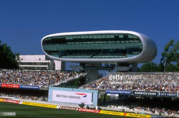 A general view of the new media centre during the second test between England and New Zealand played at Lords in London England Mandatory Credit...