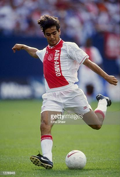 Dani of Ajax in action during the Gotham Cup match against Panathinaikos played at the Giants Stadium in New Jersey United States of America The...