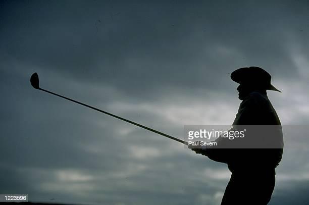 David Creamer of England in action in the British Senior Open at Royal Portrush Golf Club in Northern Ireland Mandatory Credit Paul Severn /Allsport