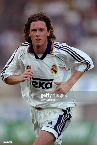 Steve McManaman of Real Madrid during a preseason friendly against Lausanne Sports in Lausannne Switzerland Mandatory Credit Ben Radford /Allsport