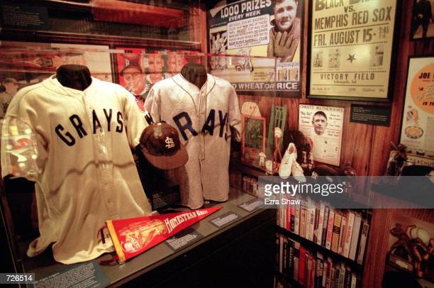 A general view of some classic memorabilia at the Baseball Hall of Fame in Cooperstown New YorkMandatory Credit Ezra O Shaw /Allsport