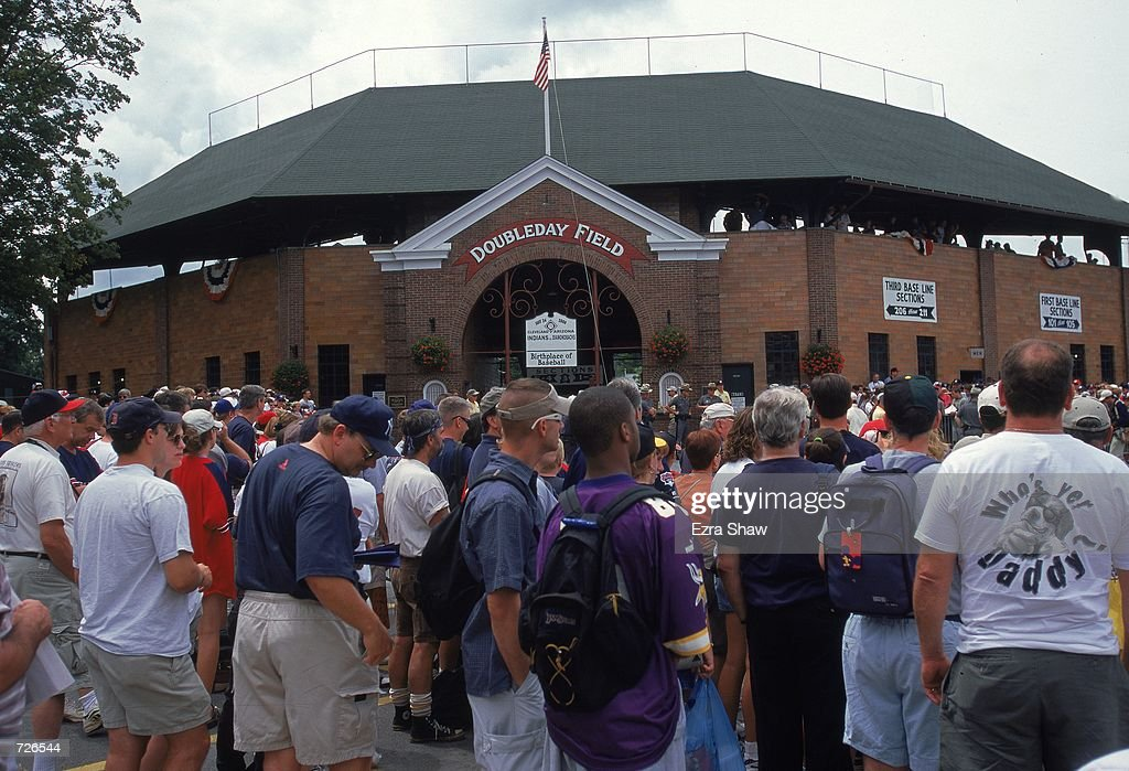 A general view of the exterior of Doubleday Field located next to the Baseball Hall of Fame in Cooperstown New YorkMandatory Credit Ezra O Shaw...