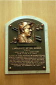 A general view of the plaque dedicated to Lawerence Peter 'Yogi' Berra at the Baseball Hall of Fame in Cooperstown New YorkMandatory Credit Ezra O...