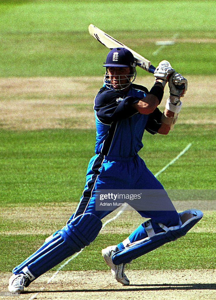 Alec Stewart of England on his way to ninty-seven before losing his wicket to Heath Streak of Zimbabwe caught behind by Andy Flower during the match between England and Zimbabwe in the Final of the NatWest Triangular series at Lord's, London . Mandatory Credit: Adrian Murrell/ALLSPORT