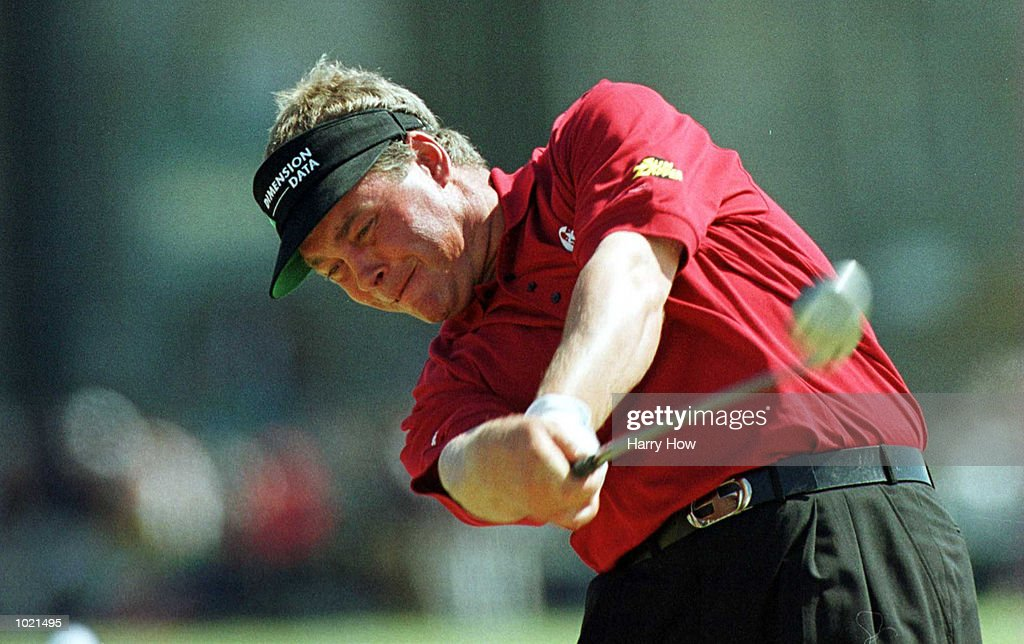 Darren Clarke of Great Britain on the second tee during the final round of the British Open Golf Championships at the Old Course, St Andrews, Scotland. Mandatory Credit: Harry How/ALLSPORT