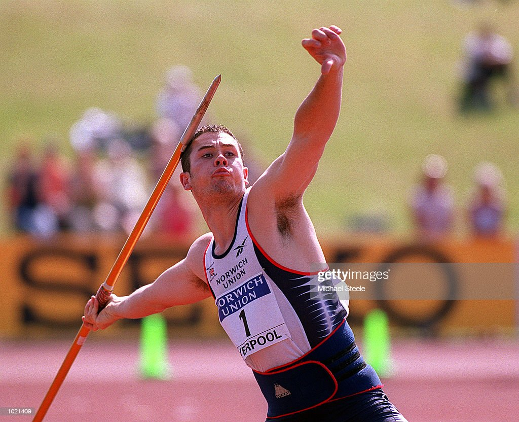David Parker of Great Britain in action during the Men's Javelin final of the Norwich Union International Athletics Under 23 Meeting at Wavertree Athletics Centre, Liverpool. Mandatory Credit: Michael Steele/ALLSPORT