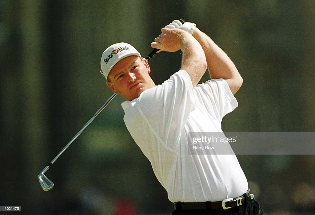 Ernie Els of South Africa on the second tee during the final round of the British Open Golf Championships at the Old Course, St Andrews, Scotland. Mandatory Credit: Harry How/ALLSPORT