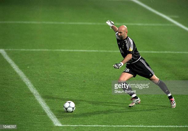 Fabien Barthez of France in action during the European Championships 2000 Final against Italy at the De Kuip stadium Rotterdam Holland France won 21...