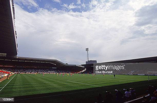 General view of the stadium during a preseason friendly between Nottingham Forest and Leeds United at the City Ground in Nottingham England Leeds...