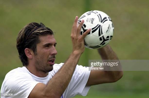 Gianluigi Buffon of Parma in action during preseason trainingDIGITAL IMAGE Mandatory Credit Grazia Neri/ALLSPORT