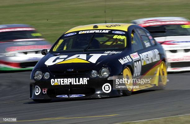 John Bowe of the Cat Ford Racing Team in action during qualifying for round seven of the Shell V8 Supercars Championship Series held at Willowbank...