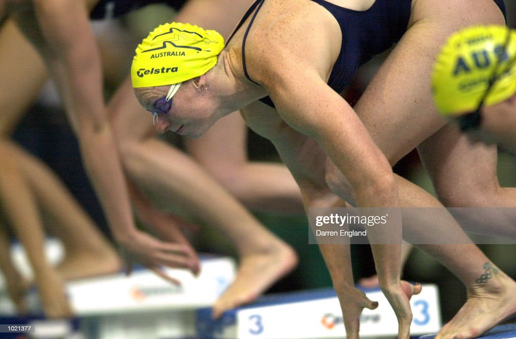 Sarah Ryan of Australia in action during the final of the Women's 100 Metre Freestyle at the Telstra Swimming Grand Prix Series held at the Chandler Aquatic Centre in Brisbane, Australia. DIGITAL IMAGE. Mandatory Credit: Darren England/ALLSPORT