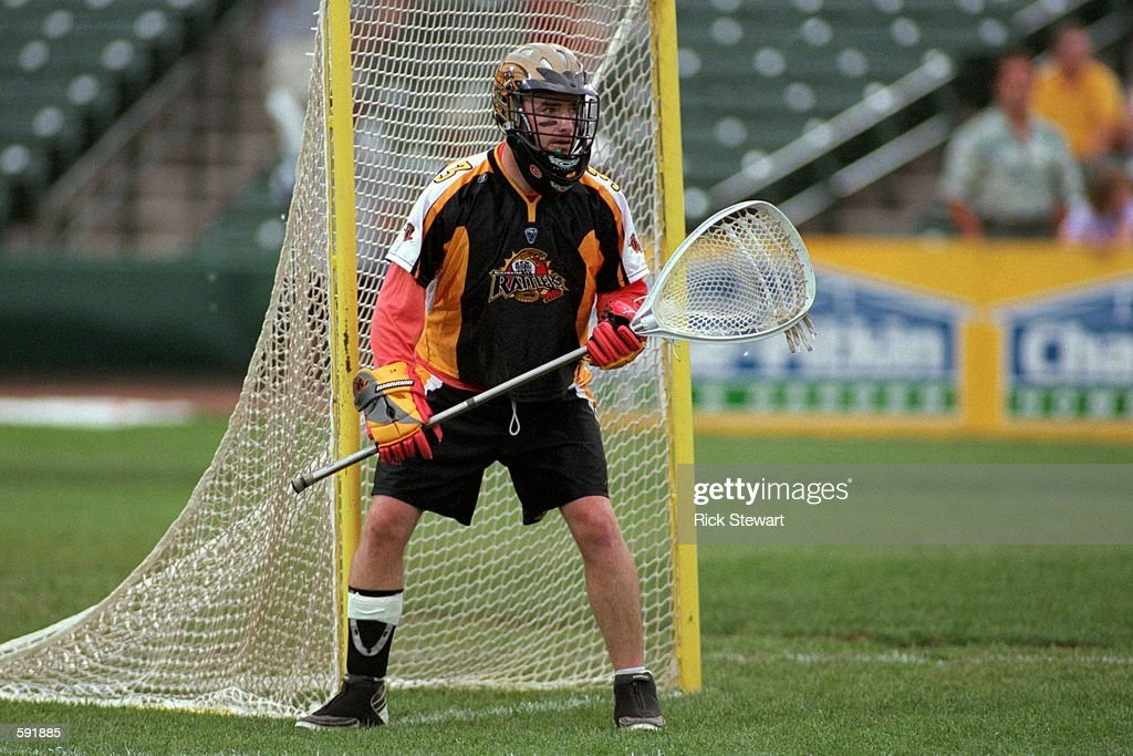 Brad Dougherty of the Rochester Rattlers is ready on the field during the game against the Baltimore Bayhawks at Frontier Field in Rochester New York...