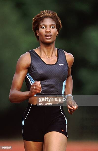 Denise Lewis of Great Britain during a photoshoot feature held at Battersea Park in London Mandatory Credit Stu Forster /Allsport