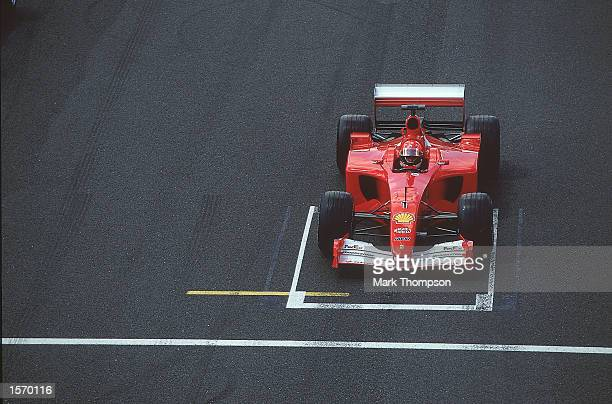 Ferrari driver Michael Schumacher on pole position for the Formula One British Grand Prix at Silverstone in England Mandatory Credit Mark...
