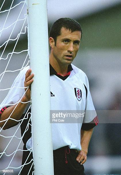 John Collins of Fulham in action during the preseason friendly match against Sparta Prague played at the Kingfield Stadium in Woking England The...