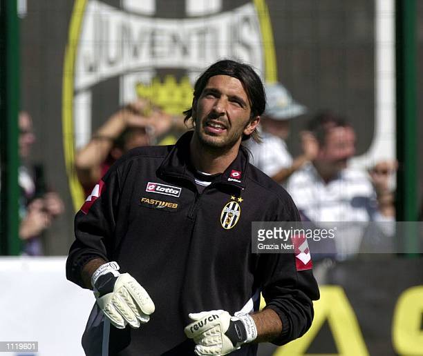 New signing Gianluigi Buffon of Juventus takes part in preseason training in Chatillon Italy DIGITAL IMAGE Mandatory Credit Grazia Neri/ALLSPORT