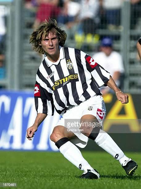 Pavel Nedved of Juventus in action during the preseason friendly between Val D''Aosta and Juventus DIGITAL IMAGE Mandatory Credit Grazia Neri/ALLSPORT