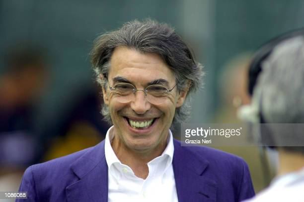 Portrait of Massimo Moratti President of Inter Milan DIGITAL IMAGE Mandatory Credit Grazia Neri/Getty Images