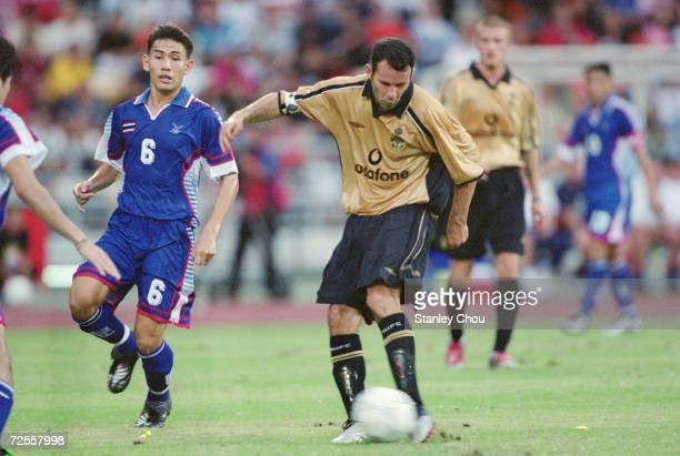 Ryan Giggs of Manchester United in action during their Final Far East Tour Match against Thailand played at the Rajamangala Stadium in Bangkok...