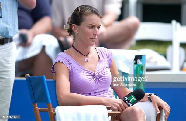 Tennis player and Tennis Channel correspondent Corina Morariu during the Acura Classic at La Costa Resort and Spa in Carlsbad CA