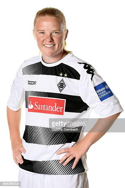 Jule Dallmann of Borussia Moenchengladbach poses during the Allianz Women's Bundesliga Club Tour on August 23 2016 in Moenchengladbach Germany