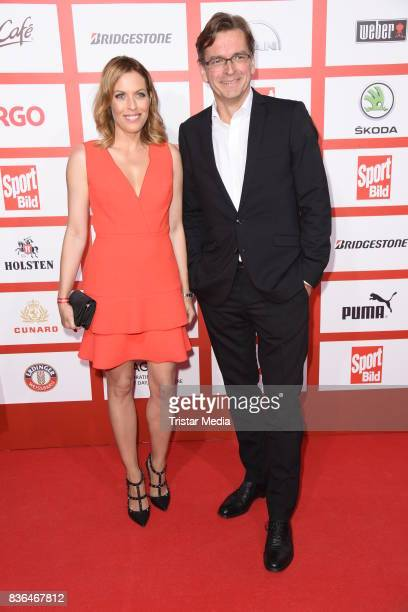 Jule Goelsdorf and Claus Strunz attend the Sport Bild Award on August 21 2017 in Hamburg Germany