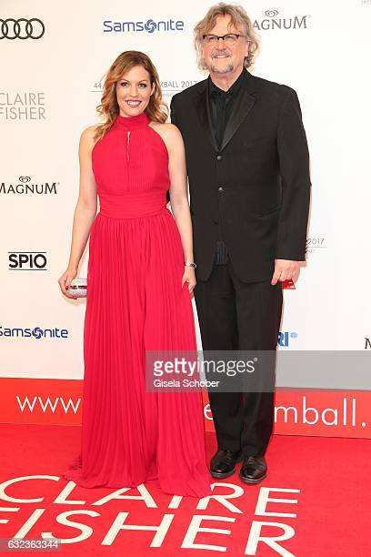 Jule Goelsdorf and Martin Krug during the 44th German Film Ball 2017 arrival at Hotel Bayerischer Hof on January 21 2017 in Munich Germany