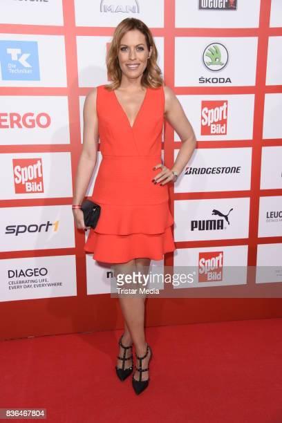 Jule Goelsdorf attends the Sport Bild Award on August 21 2017 in Hamburg Germany