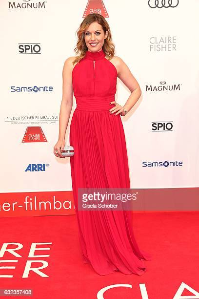 Jule Goelsdorf during the 44th German Film Ball 2017 arrival at Hotel Bayerischer Hof on January 21 2017 in Munich Germany