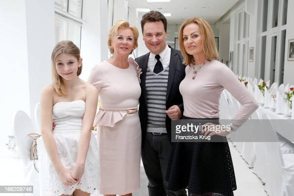 Jule Koehler Liz Mohn Guido Maria Kretschmer and Ingrid Streletzki attend the Ladies Lunch at the Ellington Hotel on April 10 2013 in Berlin Germany