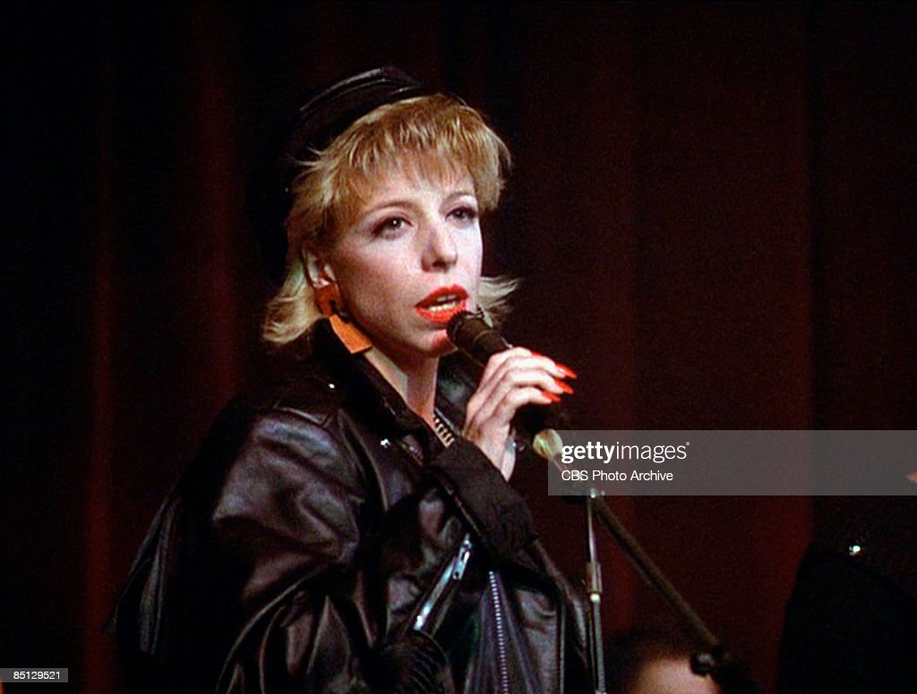 Julee Cruise sings the show's theme song 'Falling', from the pilot episode of the hit television series 'Twin Peaks', 1990.