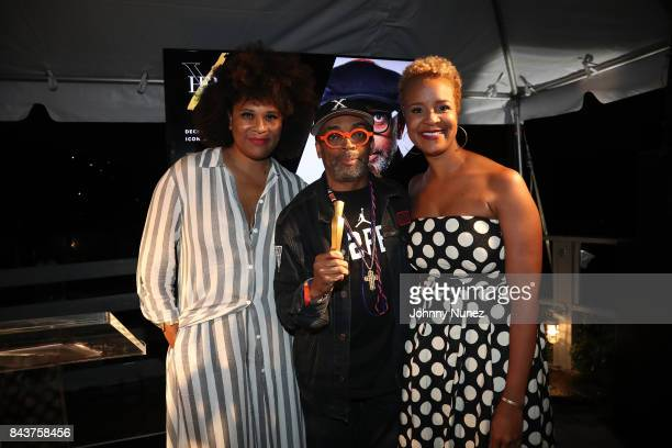 Julee Wilson Spike Lee and Brandice Daniel Attends Harlem's Fashion Row at La Marina Restaurant Bar Beach Lounge on September 6 2017 in New York City