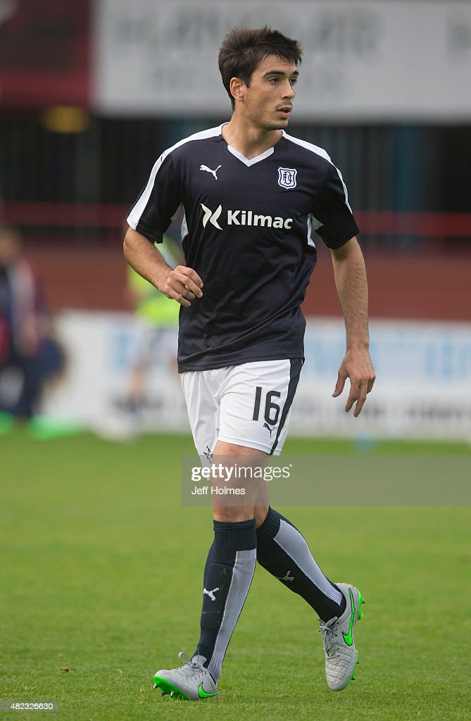 Julen Etxabeguren for Dundee at the Pre Season Friendly between Dundee and Everton at Dens Park on July 28th 2015 in Dundee Scotland