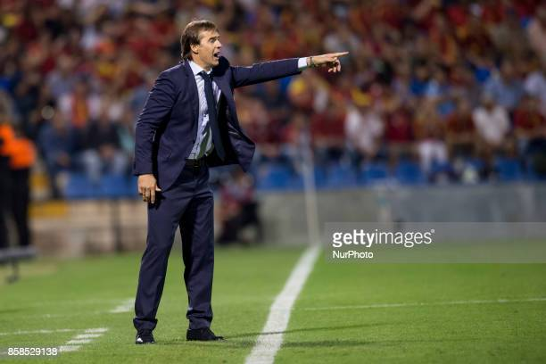 Julen Lopetegui during the qualifying match for the World Cup Russia 2018 between Spain and Albaniaat the Jose Rico Perez stadium in Alicante Spain...
