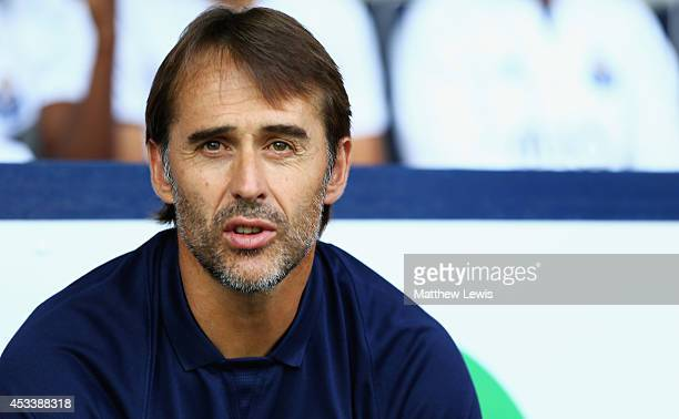 Julen Lopetegui manager of FC Porto looks on during the Pre Season Friendly match between West Bromwich Albion and FC Porto at The Hawthorns on...